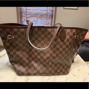 Authentic Louis Vuitton Damier Ebene Neverfull MM